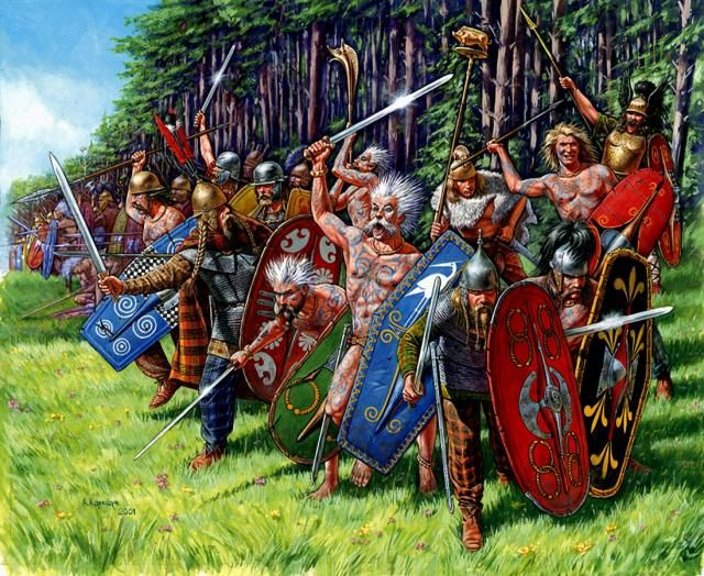relationship between celts and gauls vs