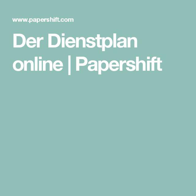 Der Dienstplan online | Papershift