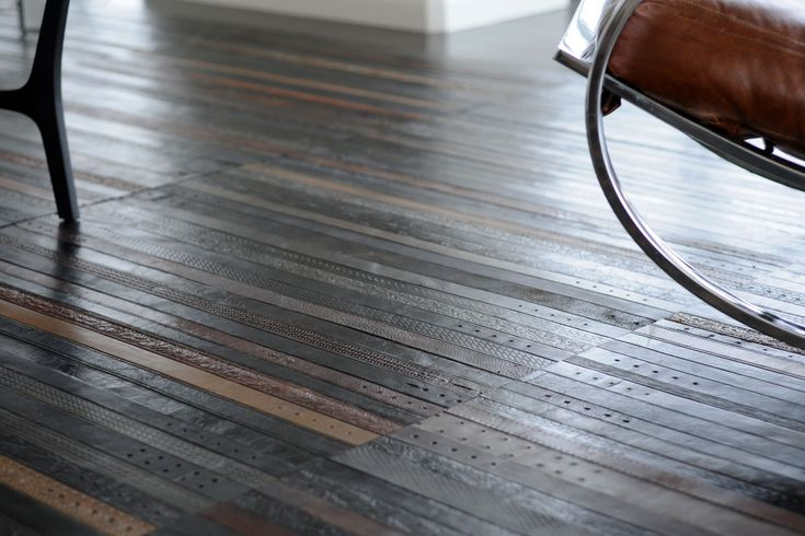 Leather belt flooring by Ting London.  Too bad it's probably not very cost or pet friendly.: Floors Covers, Vintage Wardrobe, Belts Floors, Recycled Leather, Men Belts, Vintage Leather, Leather Floors, Leather Belts, Design