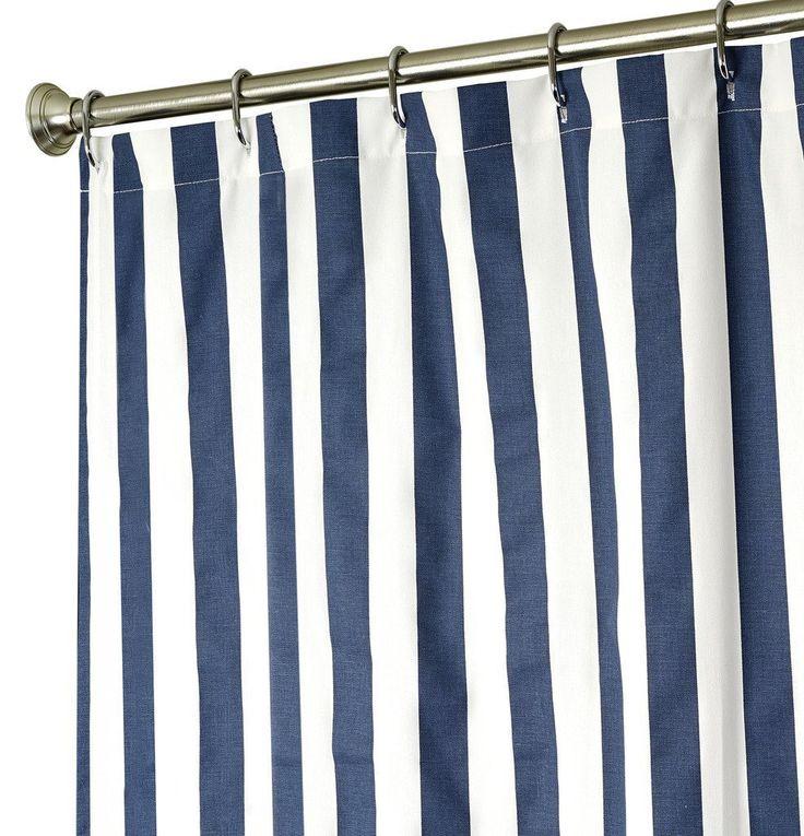Amazon.com: Extra Long Shower Curtain Fabric Shower Curtains Blue ...