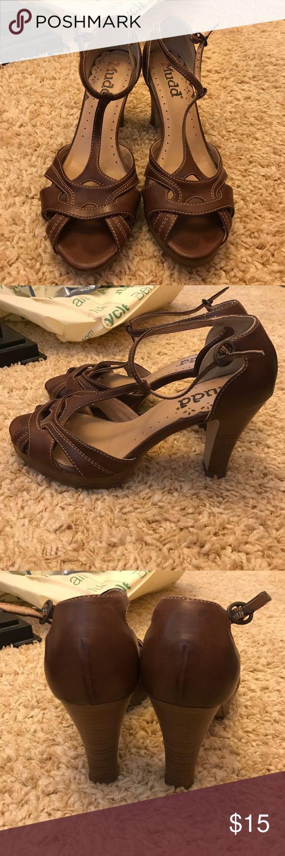 Brown heels! Brown strappy heels! Shoes Heels