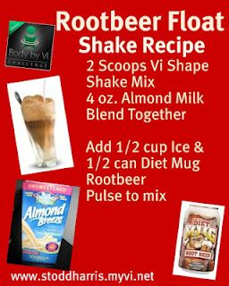 The BodybyVi Weight Loss Challenge Texas: Rootbeer Float Vi-Shape Shake Recipe