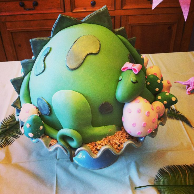 Dinosaur Baby Shower Cake