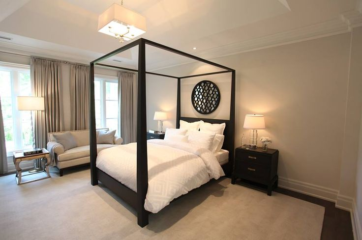 luxury bedroom at the 2014 Princess Margaret Oakville Showhome custom built by PCM Inc