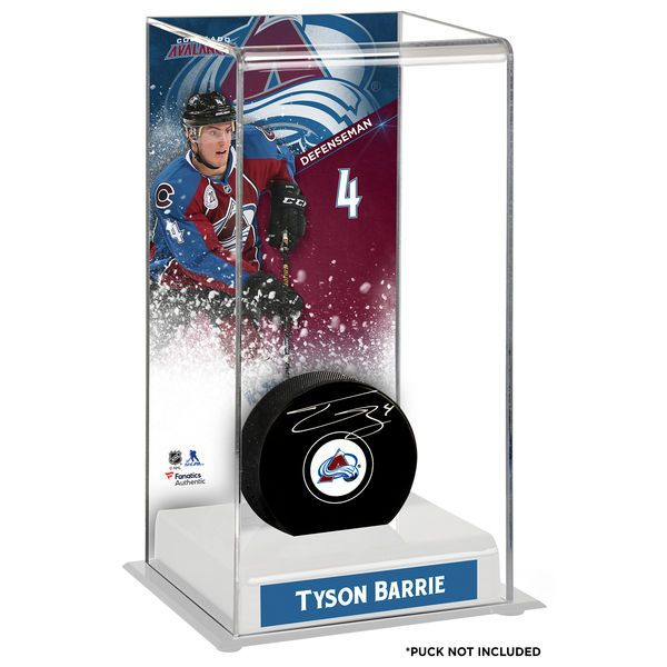 Tyson Barrie Colorado Avalanche Fanatics Authentic Deluxe Tall Hockey Puck Case - $49.99