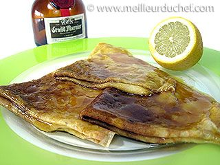 """Crêpe Suzette (pancake) delicious with lemon and """"flambée"""" with Grand Marnier :P  #France #french #stuff"""