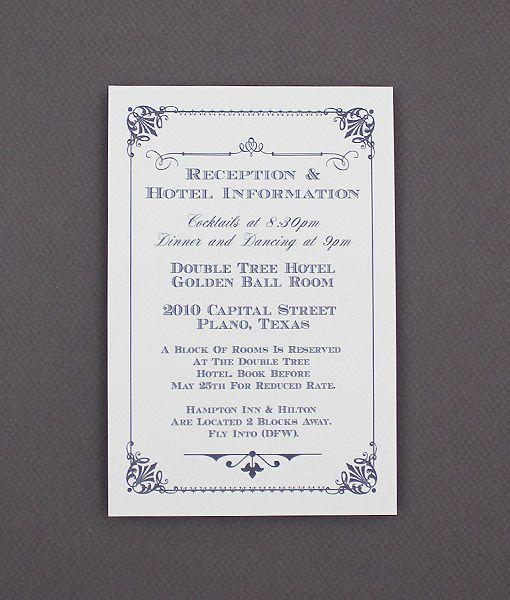 Diy Ornate Vintage Wedding Enclosure Card From
