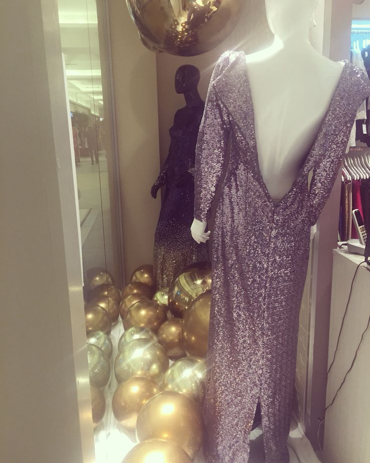 Sequin antracit dress