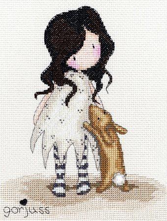 Gorjuss: I Love You Little Rabbit von Bothy Threads - Bothy Threads - Sticken - Casa Cenina