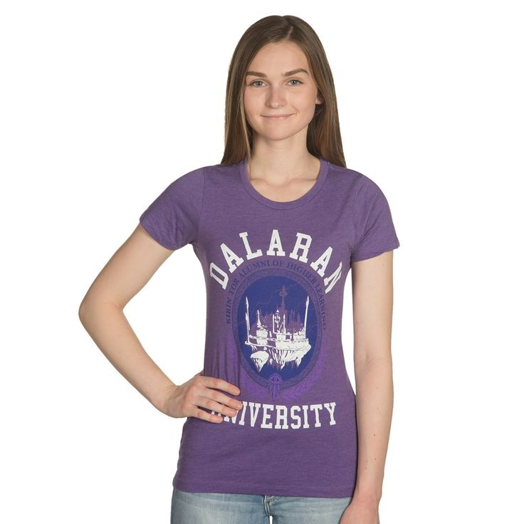 Expansions may come and go, but Dalaran will always be around - probably floating. Everyone's favorite Dalaran shirt has gotten an upgrade! We would hope you've graduated by now, so be proud, alumni of the greatest school of magic in all of Azeroth. Features updated design reflecting the 'new' Dalaran in Legion.