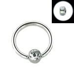 "316L Surgical Steel Captive Nose Septum Ring Hoop Tiny Small Gem 1 4"" 6 4mm 22G | eBay"