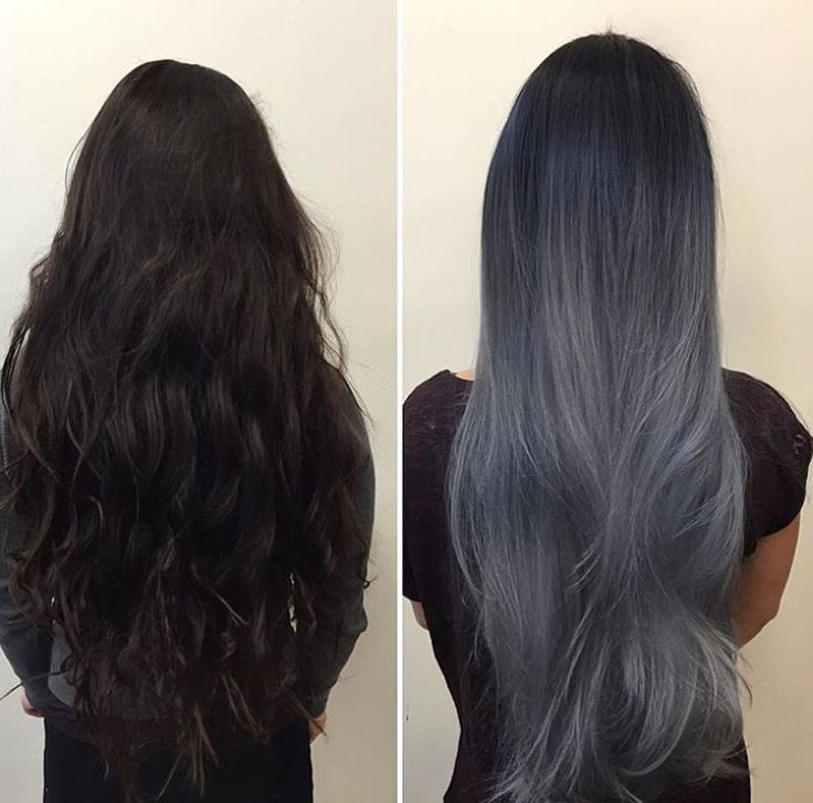 Dark Silver hair. Ombre