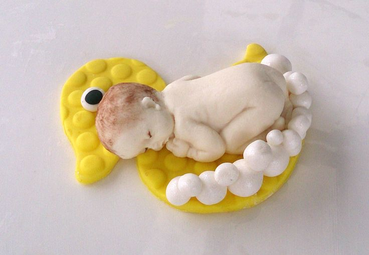 Baby and ducky fondant topper Ebay ebhelen08