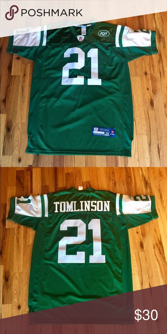 Men's Official NFL Jets Jersey #21 Tomlinson Official NFL Jets Jersey with sewn on letters. Like new condition! Reebok Other