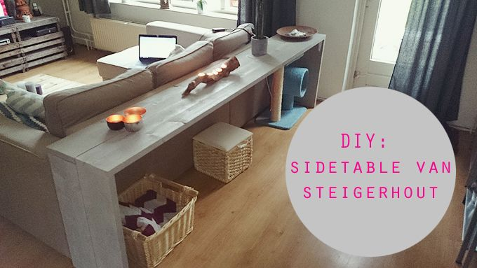 DIY sidetable van steigerhout | Knusheid van het leven