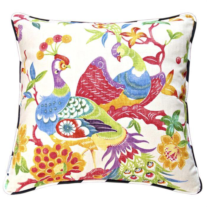 Birds Of A Feather Peacock Cushion Cover | Erin Hodges Design & Illustration | madeit.com.au