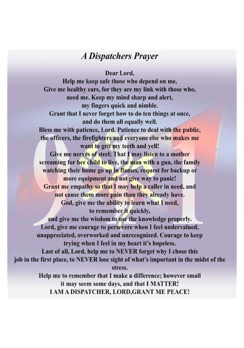 Dispatchers Prayer