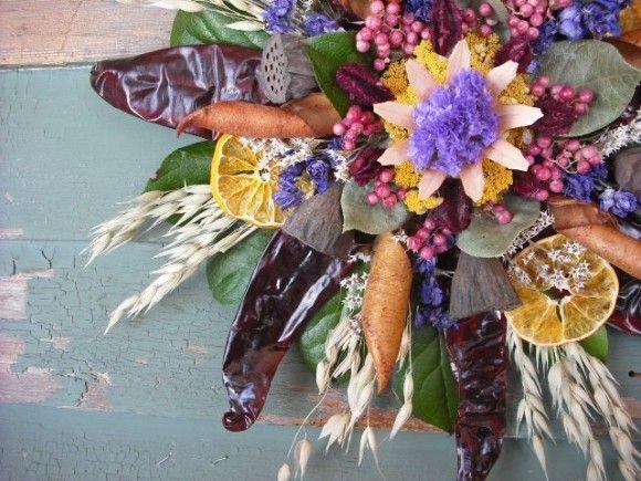 Composizioni con fiori secchi faidate - Foto Gallery Donnaclick
