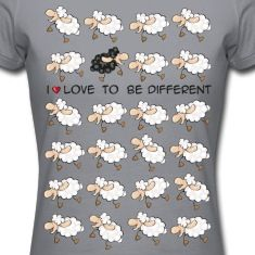 I love to be different T-shirts