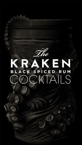 http://www.krakenrum.com/cocktails/ - The Buttery Kraken sounds yummy: 1 part Kraken rum, 1 part butterscotch schnapps, splash of cola