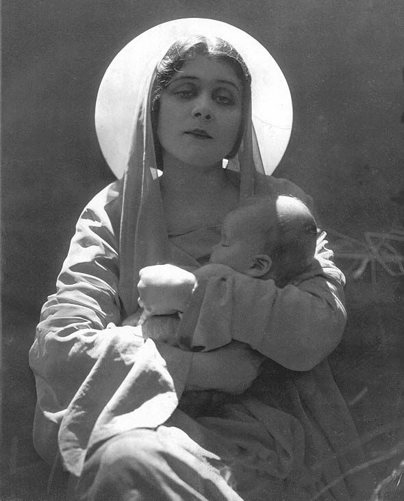 Theda Bara as the Madonna