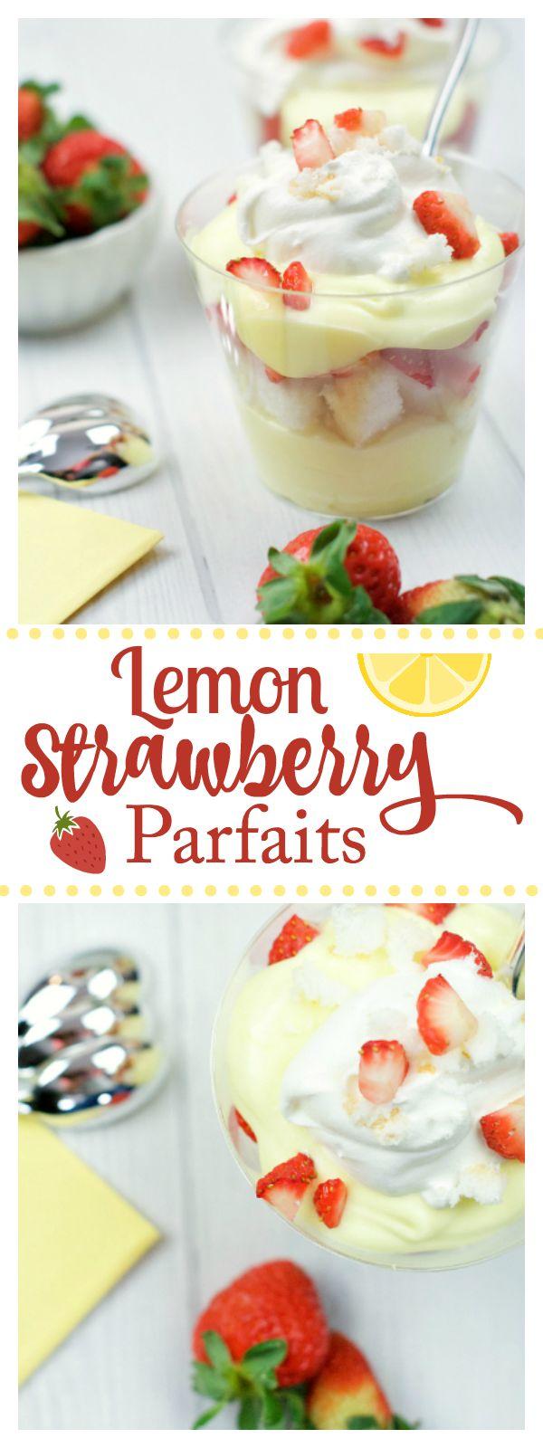 Strawberry Lemon Parfait - Fun-Squared