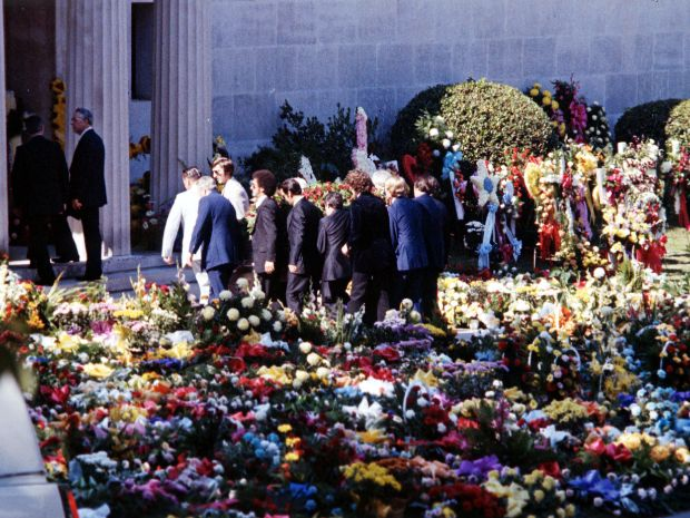 Image result for Elvis Presley funeral, George Hamilton