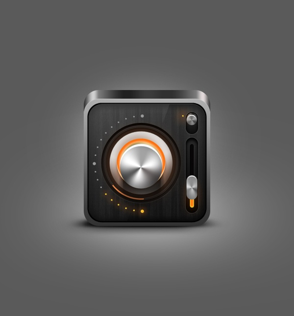 Radio iOS icon by Nicola Mihaita, via Behance