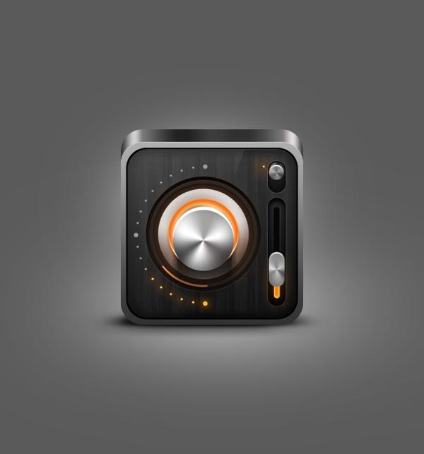 Radio iOS icon by Nicola Mihaita, via Behance