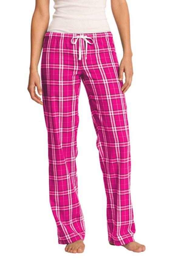 Custom Women/'s EmbroideredPrint Flannel Plaid Pant