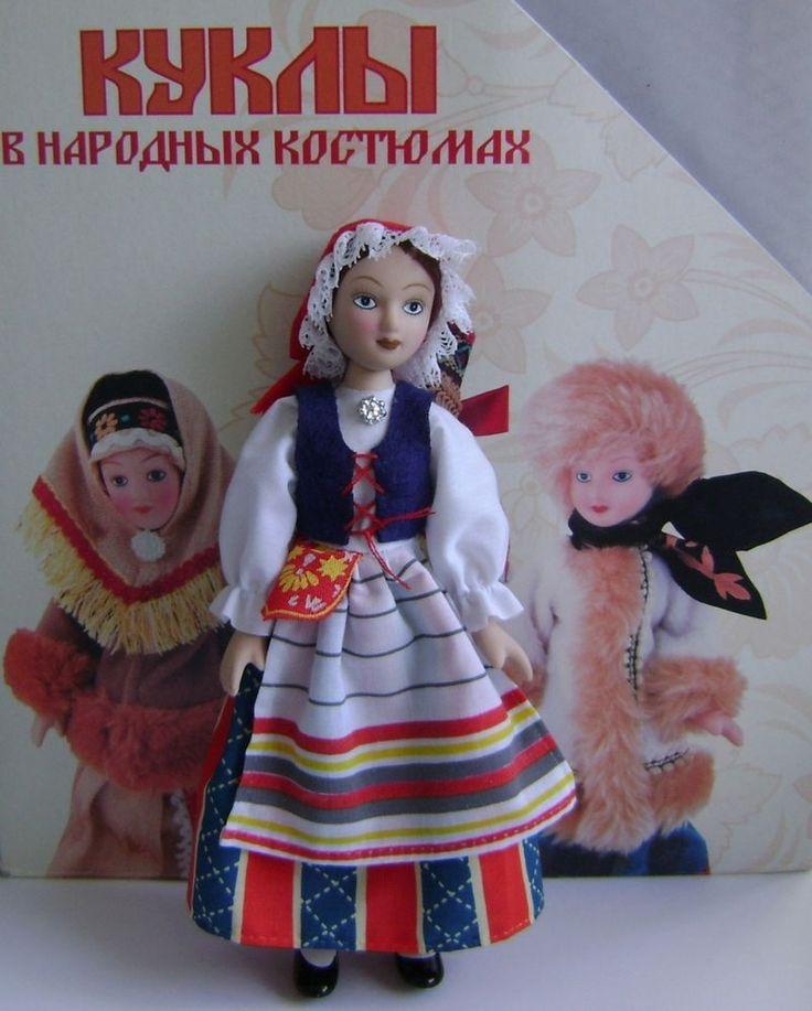"Finnish women's costume. Porcelain doll handmade in national costume-. ""Russian Dolls in Folk Costumes"". | eBay!"