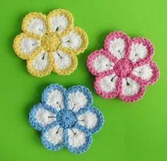 Como Fazer Flor de Crochê Passo a Passo Simoples e Fácil