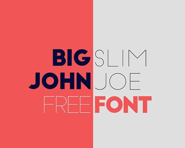 Big John & Slim Joe Fonts