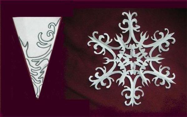 Схема для вырезания снежинки