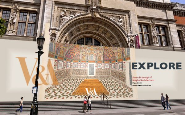 3-D space was successfully created through the assimilation between text and image in these hoardings created by Briana Lynch Design for the Victoria and Albert Museum, London UK.  The goal was to spark interest and invite visitation.   The concept was to use archival images to change space and create something engaging and interesting.  It had to consider branding, use colours appropriate to the images, and be fun and interesting. The headlines had to be straightforward and bold.