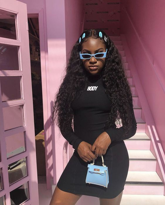 Brazilian deep wave 360 wig best curly hair lace frontal wig When the hair & outfit soooo cute😍😍Do you like this summer style🔥🔥 Get deep wave 360 wig for a bombshell hairstyle & enjoy beautiful hair days✨✨  <a class=