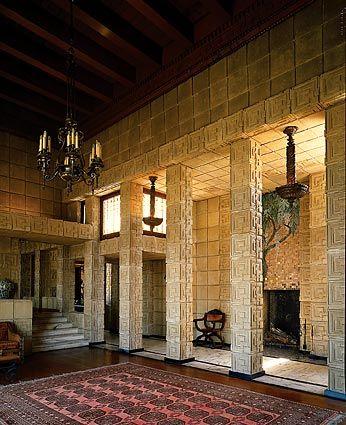 Ennis House. Frank Lloyd Wright Textile Block Period. 1924 Los Angeles, California