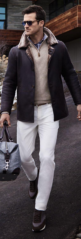 Men's Gifts |Peter Millar Fall 2016 Leather & Shearling Coat | Men's Fashion | www.earthgear.com