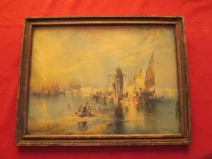 Thomas Moran Quot Sunset On Grand Canal Quot Venice 1898 Rare