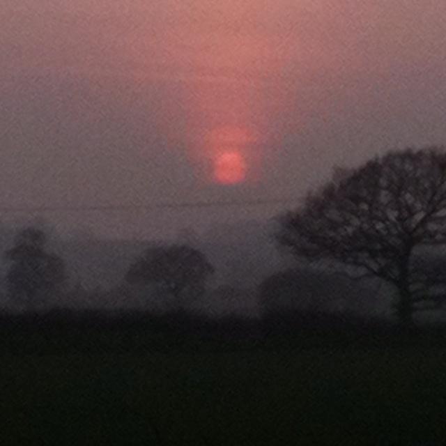 Sunset. Branston UK