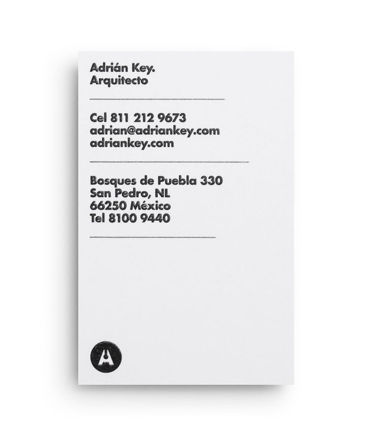 Adrián Key designed by Face