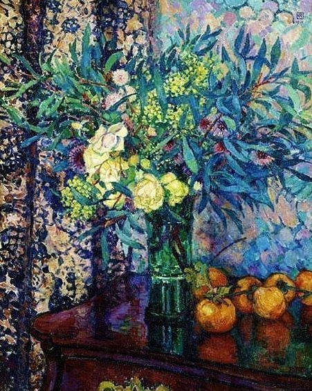 ❀ Blooming Brushwork ❀ - garden and still life flower paintings - Theo van Rysselberghe | Still Life with Flowers