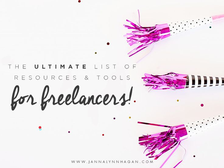 The Ultimate List of Resources & Tools for Freelancers — Janna Hagan
