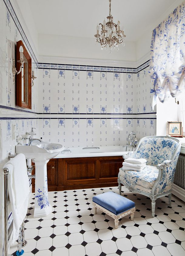 Tiled Bathrooms Pictures top 25+ best blue white bathrooms ideas on pinterest | blue