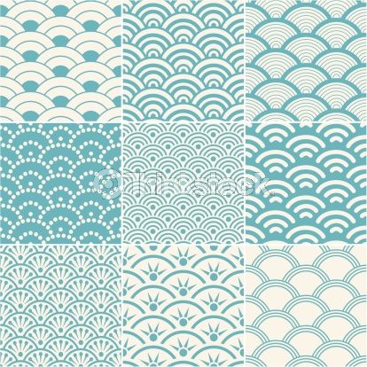 Variations of Japanese wave pattern