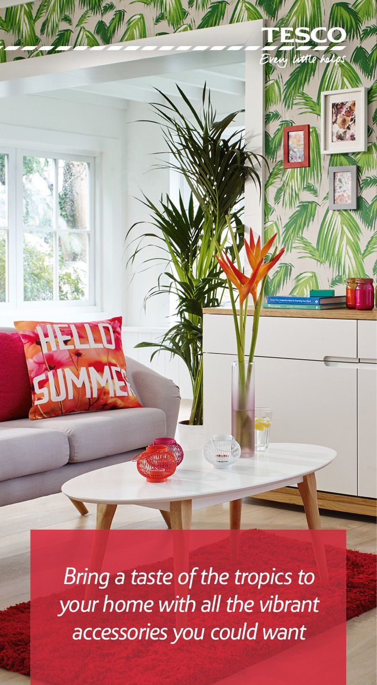 Unwind in your very own tropical paradise this summer with our range of great-value, colour popping accessories. From hot pinks to sunset oranges, we have all you need to refresh your living room and relax in style.