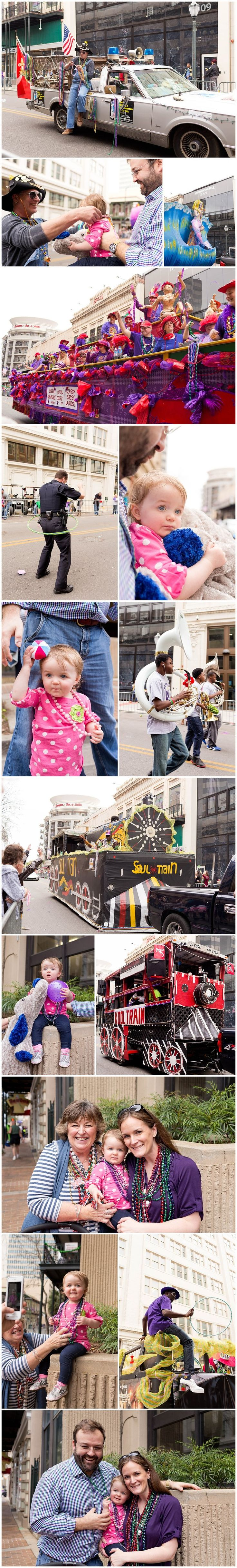family fun at Mystic DJ Riders Mardi Gras parade (Mobile, Alabama)