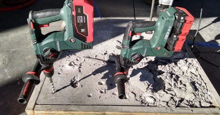 Our TWIN 18V or single 36v rotary SDS hammer drill! #cordlesslife #we #tools #lithiumHD #7Ah #masonry #concrete #drill #drills #sds #drilling #contractor #toolsofthetrade #trade #renovate #trade #metabouk #powertools #construction #constructionworker #toolreview #tools #metabo #cordless #batteries #battery
