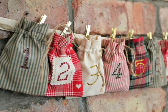 Christmas Advent Calendar  Rustic Cottage Style  by peppermintfizz, $73.00