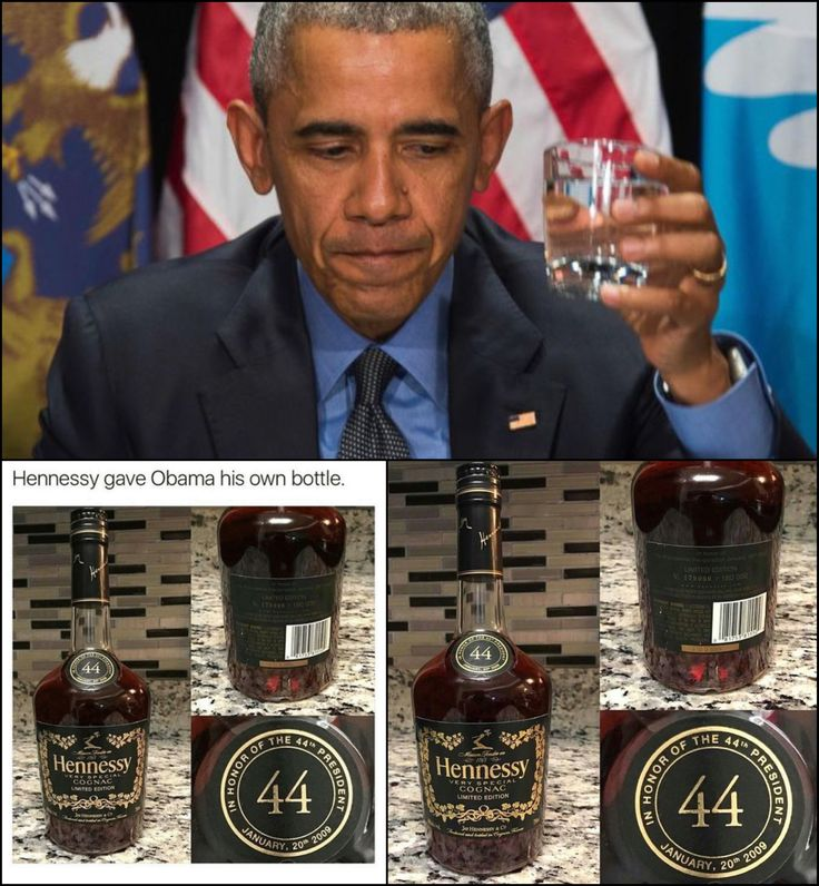 March 14, 2017 #44thPresident #BarackObama gets his own specially designed bottle of #Hennessy #LimitedEdition The bottle of Hennessy was #designed for the 44th President of United States. If you are one of the lucky ones to have bought this Hennessy 44 Limited Edition bottle, it might be worth some money now. It was made for the 44th president of the United States, President Obama, and is now a #collectorsitem for enthusiasts.